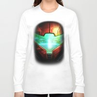 metroid Long Sleeve T-shirts featuring Metroid by Joe Roberts
