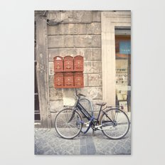 bike love::rome, italy Canvas Print