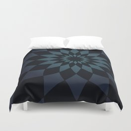 Wonderland Floor in Muted Rain Colors Duvet Cover