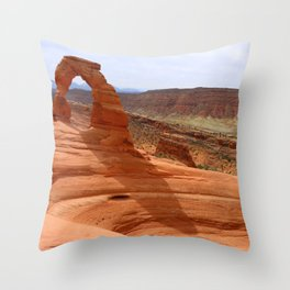 Delicate Arch A Famous Landmark Throw Pillow