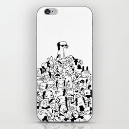 Pupper Pile iPhone Skin