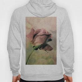 Painterly Pink Rose Bud Hoody