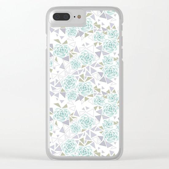 Modern . Geometric pattern . Rose .2 Clear iPhone Case