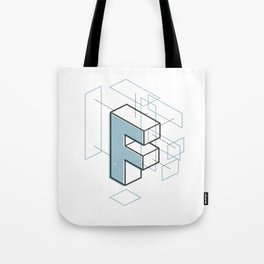 The Exploded Alphabet / F Tote Bag