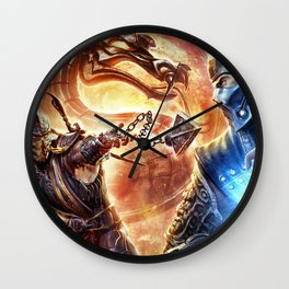 MK Game Logo Wall Clock