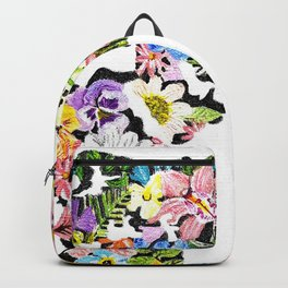 Floral World Map Backpack