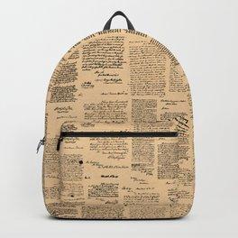 George Washington's Letters // Dark Paper Backpack