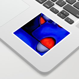Abstraction in Lapis and Red Sticker
