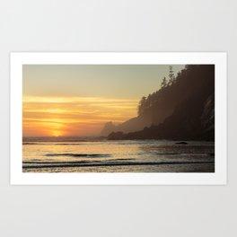 Last Light at Short Sand Beach, Oregon Art Print