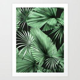 Palm Springs (Noir) Art Print