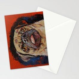 Pug Portrait Stationery Cards