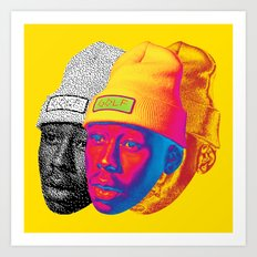 Tyler the Creator Odd Future OFGWKTA Glitch Art Art Print