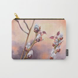 Tiny pigs hiding in pussy willow Carry-All Pouch