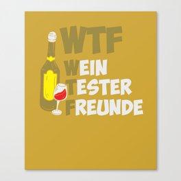 Wine Tester Vitner Wine Bottle Wine Glas Canvas Print