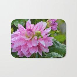 Fresh Rain Drops - Pink Dahlia Two Bath Mat