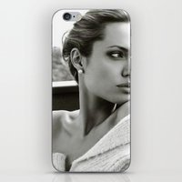 angelina jolie iPhone & iPod Skins featuring Angelina Jolie by Sport_Designs