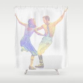 La la Land Typographic Screenplay Print Shower Curtain
