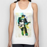 chuck Tank Tops featuring chuck berry by manish mansinh