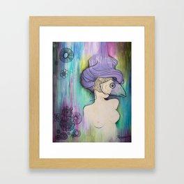 Woman in Mask Framed Art Print