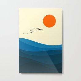 Royal blue ocean Metal Print