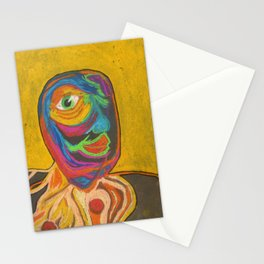 Smile your yellow Unicycle  Stationery Cards