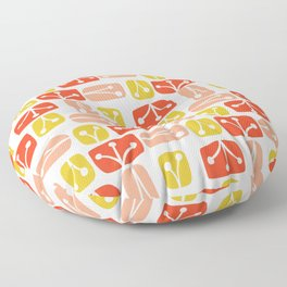 Fresh Abstract Floral Floor Pillow