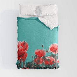 Red poppies Comforters