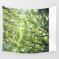 Green Maples Wall Tapestry