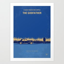 No686-1 My Godfather I minimal movie poster Art Print