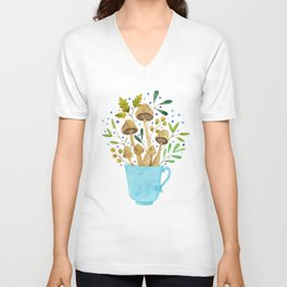 Relaxing Shrooms Unisex V-Neck