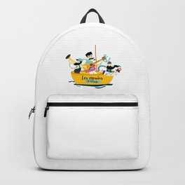 brassens musician music guitare boat sea friends trumpet accordion notes ocean french fun Backpack