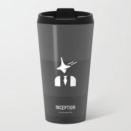 Flat Christopher Nolan movie poster: Inception Travel Mug