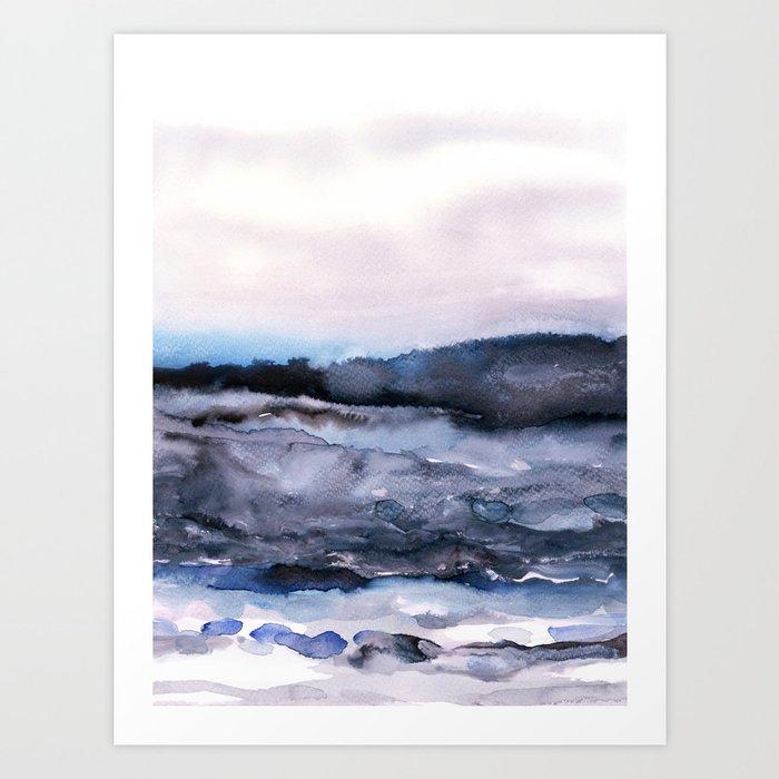 Sunday's Society6 | Watercolor sea landscape art print
