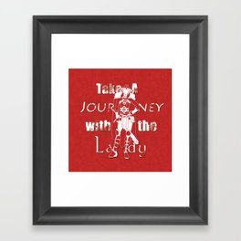 Take A Journey With The Lady Framed Art Print