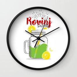 Fresh fruity drink in Rovinj, Croatia Wall Clock