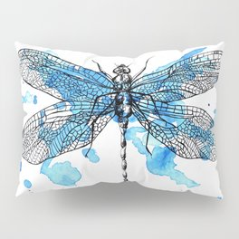 Blue Dragonfly Pillow Sham