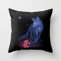 celestial Throw Pillows featuring Celestial by Freeminds