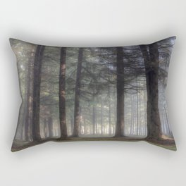Misty forest - Kessock, The Highlands, Scotland Rectangular Pillow