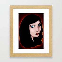 Cassandra portrait Framed Art Print
