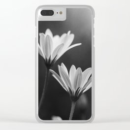 In My Season (Black and White) Clear iPhone Case