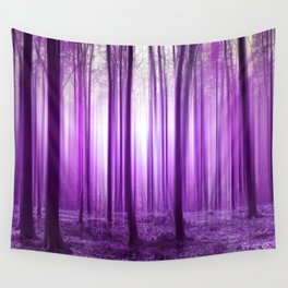 Mystical forest purple 43 Wall Tapestry