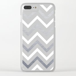 Metallic Zigzag Clear iPhone Case