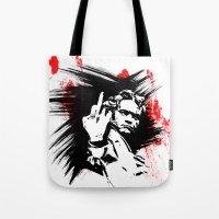 beethoven Tote Bags featuring Beethoven FU by viva la revolucion