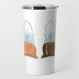 takeaway drinks, white Travel Mug