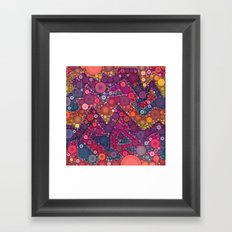 Dreaming in Purple Framed Art Print