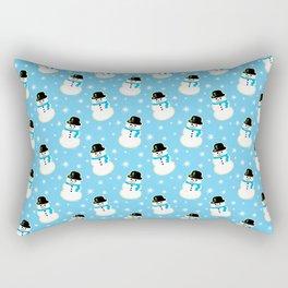 Christmas Snowman Cookies Rectangular Pillow