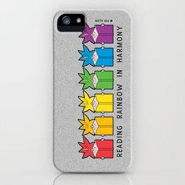 Reading Rainbow in Harmony iPhone Case