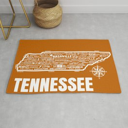 Tennessee Map  Rug