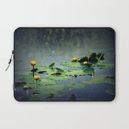 lily pads in the rain at Vernonia Lake Laptop Sleeve