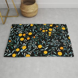 Oranges Black Rug